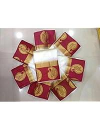Aashi Traditional Kanjivaram Party Wear Saree (10 Colors_Mango Pink_FreeSize)