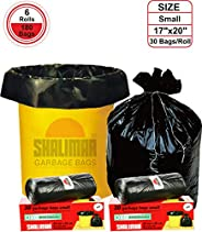 Shalimar Premium OXO - Biodegradable Garbage Bags (Small) Size 43 cm x 51 cm 6 Rolls (180 Bags) ( Dustbin Bag