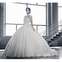 91d8790da42 Inconnu UU Robe de Mariée Robe de Mariée de Luxe Épaule Épaule Manches  Longues Robe de