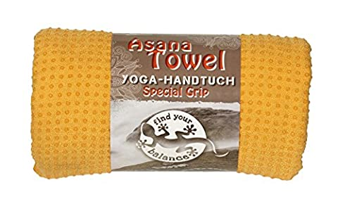 Asana yoga towel - premium towel, 183 x 610 cm non-slip knobs, microfibre made from 80% polyester, 20% polyamide and silicone knobs, wash separately up to 30º C, saffron/orange