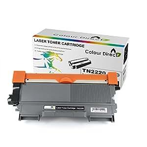 ColourDirect TN2220 Noir Laser Cartouche Toner Pour Brother HL2240 HL2240D HL2250DN HL2270DW HL2130 HL2132 DCP7060 DCP7065DN DCP7060D DCP7070DW DCP7055 MFC7360N MFC7860DW MFC7460DN MFC7460N imprimeur *2600 Pages*