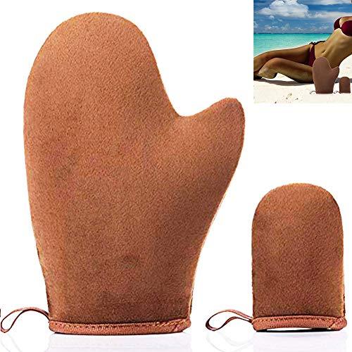 Techrace Guante Autobronceador Facial Guante Loving Tan Autobronceador, perfecto para Auto Bronceado Sunless marrón guantes o Self Tanner guantes (marrón)
