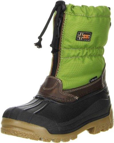 Vista Canada POLAR Kinder Winterstiefel Snowboots Thermo-TEX Innenschuhen grün, (Kinder Stiefel Billig)