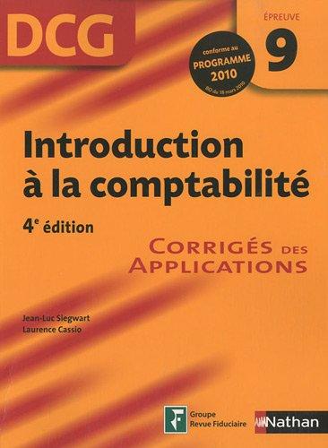 INTRODUCTION COMPTA EPR 9 DCG par JEAN-LUC SIEGWART, LAURENCE CASSIO