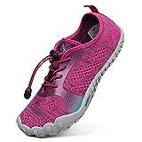 Troadlop Damen Fitnessschuhe Outdoor Barfußschuhe Atmungsaktiv Badeschuhe Unisex Traillaufschuhe Rot