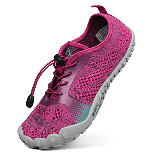 Troadlop Damen Fitnessschuhe Outdoor Barfußschuhe Atmungsaktiv Badeschuhe Unisex Traillaufschuhe Rot 38