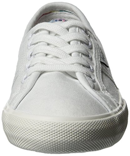 Pepe Jeans Baker Wash, Scarpe da Ginnastica Basse Bambina Bianco (White)