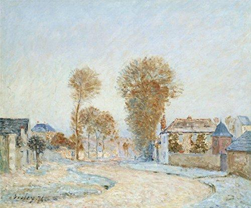 (Der Museum Steckdose–Die erste raureife, 1876, gespannte Leinwand Galerie verpackt. 96,5x 121,9cm)
