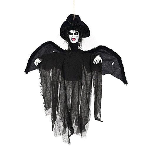 Halloween Animierte Hängendes Skelett Geist Party Dekoration mit Voice Activated und Glowing Eyes (Haus Sensenmann Kostüme)