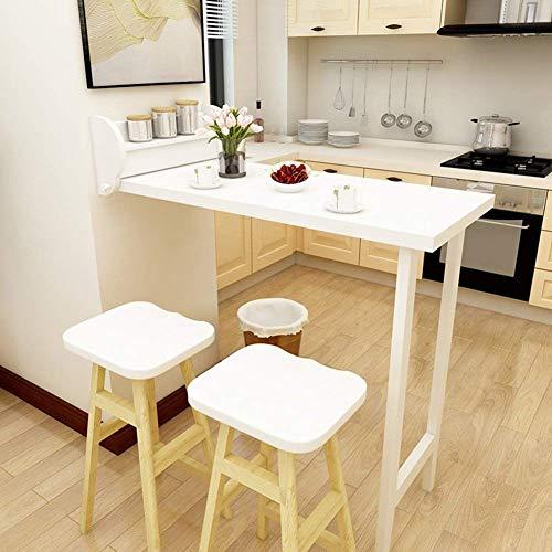 ZGYQGOO Tisch Wandtisch Wandklapptisch Wand-Klapptisch Esstisch Cabrio Schreibtisch Massivholztisch Weiß 108,1 * 51,8 cm