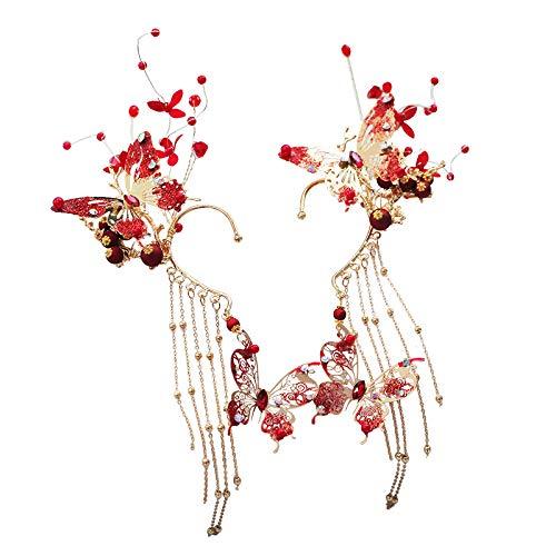 ChuangYing Antike Ohrringe schöne Braut Ohrringe Hochzeit Abendkleid, Ohrringe