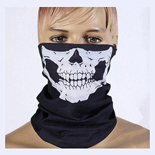 URChic 1Pcs nahtlose vielseitige Magie Schal Musik Festivals Raves Reiten im Freien Reiten Masken Warm Lätzchen Pagode Hall Requisiten Schädel Gesicht Handtücher