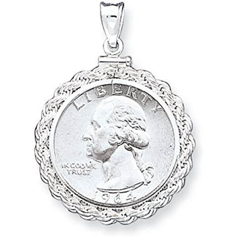 Icecarats Designer Di Gioielli In Argento Sterling 24,1 X 1,7 Millimetri 0,25 Dollari Corda Pendente Lunetta