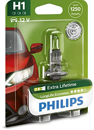 Philips 12258LLECOB1 Scheinwerferlampe H1 Long Life Eco Vision