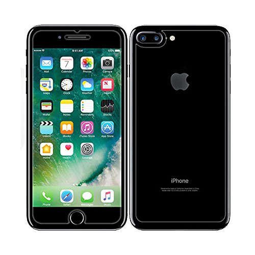 Price comparison product image iPhone 7 Plus Front and Back Screen Protector, NXET® Front + Back Rear [9H Hardness 0.26 mm 2.5D] Premium Ultra-Clear Anti Scratch/Bubble Free Tempered Glass Cover for Apple iPhone 7 Plus (iPhone 7 Plus)