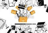 druck-shop24 Wunschmotiv: Cloud Networking Computing Back Up Concept #120225125 - Bild auf Alu-Dibond - 3:2-60 x 40 cm/40 x 60 cm