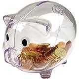 Plastique transparent Piggy Bank / Money Box (Transparent)