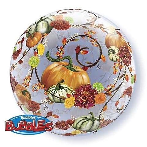Autumn Pumpkins Vines Floral 22 Bubble Balloon by Qualatex