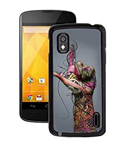 Fuson 2D Printed Finger Pattern Designer Back Case Cover for LG Google Nexus 4 - D1028