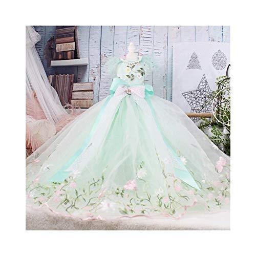 7°MR Hundekleid Wunderschöne bestickte Tutu Kleider handgemachte Haustier Luxus Trailing Hochzeit Rock Bow Hund Kleidung Chihuahua Pudel (Color : Light Green, Size : L)