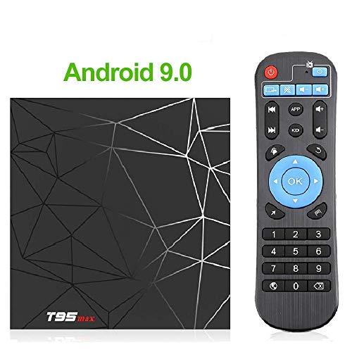Android 9.0 TV Box, 2 GB, 16 GB / 4 GB, 32 GB / 4 GB, 64 GB Quad-Core-Smart-TV-Box, Unterstützung für 6K Full HD Wi-Fi, 2,4 GHz Smart-TV-Box - Schwarz,2G+16G