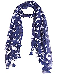 Ziva Fashion Women's Blue Printed Stole