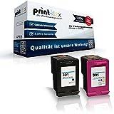 Print-Klex Kompatible Tintenpatronen Sparset (alle Farben) für HP CH563EE CH564EE HP 301BK HP 301C DeskJet 2050 DeskJet 2050a DeskJet 3000 DeskJet 3040 HP 301XL HP301BK HP301C