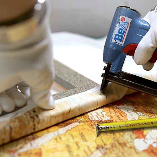 Bilder 120x80 cm - XXL Format - Fertig Aufgespannt – TOP - Vlies Leinwand - 3 Teilig - Wand Bild - Kunstdruck - Wandbild – Weltkarte Welt Karte Kontinente 020213-2 120x80 - 6