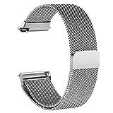 beimaji-Milanese Loop Edelstahl-Armband mit Metall-Band Ersatz-Armband für die Fitbit. Die mit Einzigartige Magnet Lock, Fitness Smart Watch L silber