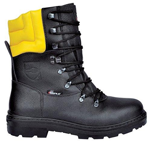 Cofra 25580-000 - Botas resistentes Woodsman Up trabajadores forestales botas cortadas con protección anticorte 40, Negro