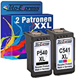 PlatinumSerie® Sparset 2 Patronen für Canon PG-540XL CL-541XL MG4120 MG2150 MG2250 GM3140 MG3150 MG3250
