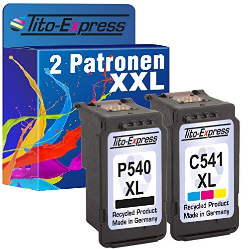 Tito-Express PlatinumSerie Set 2 Druckerpatronen für Canon PG-540XL CL-541XL MG4120 MX515 MX525 MG4250 MG3250 MG2150 MG3140