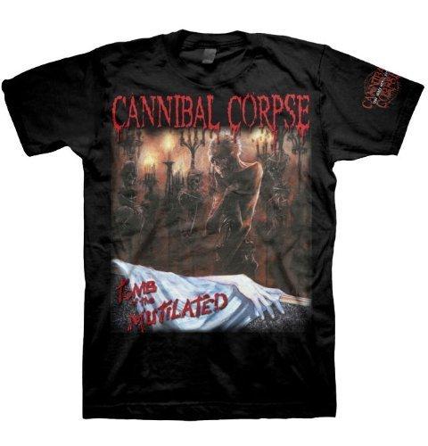 Cannibal Corpse - Uomo Tomb CensoRosso T-Shirt In Nero, Medium, Nero