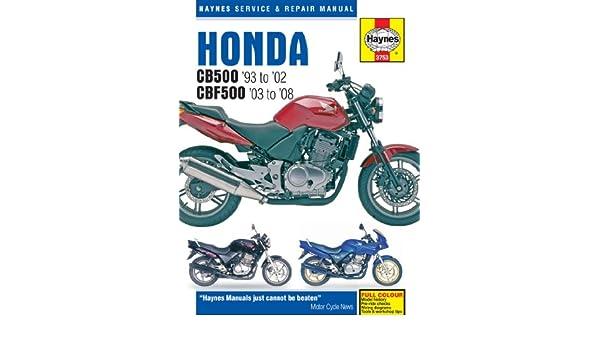 Service & Repair Manuals Haynes Honda CB500 CBF500 1993-2008 ...