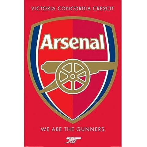 Arsenal FC Crest Poster maxi, Multicolore