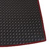 Tapis de Coffre de Voiture sur Mesure 3mm Noir Caoutchouc avec Contour Rouge (25342)