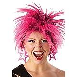 Peluca punk de los años 80 de Rubie's, para mujer, color rosa y talla única