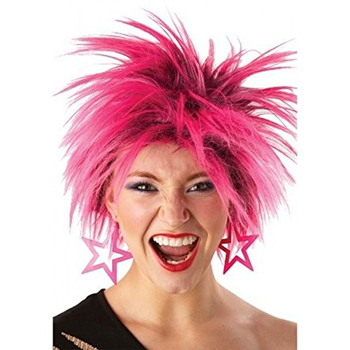 80s Pink Punk Wig Adult (One Size)