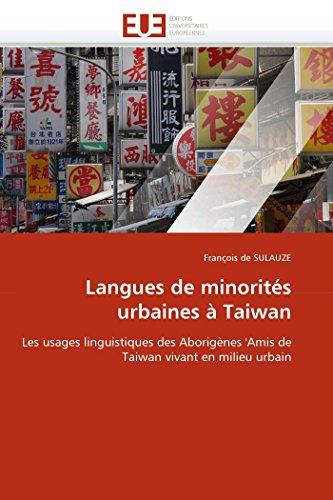 Langues de minorités urbaines à taiwan
