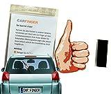 Car Finger Daumen , witziges Auto - Zubehör für den Scheibenwischer - Das ideale Geschenk, macht lange Autofahrten lustig. Das outdoor Kfz tuning Zubehör in Form einer Hand oder eines Finger ist ein witziges Spielzeug für Kinder, Damen und Herren