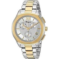 Salvatore Ferragamo Men's 'LUNGARNO CHRONO' Quartz Stainless Steel Casual Watch, Color:Two Tone (Model: FLF980015)