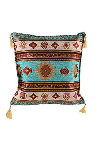 Armadahome Kissenbezug Kissenhülle Sitzkissen Cushion Cover orientalisch (Türkis)