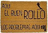 Koko Doormats Felpudo para Entrada de Casa Aquí el buen rollo Original y Divertido, 40x60 cm
