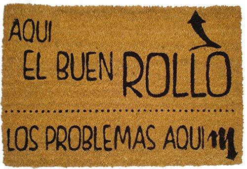 Felpudos Originales  con Diseño Buen Rollo, Coco, 60 x 40 cm