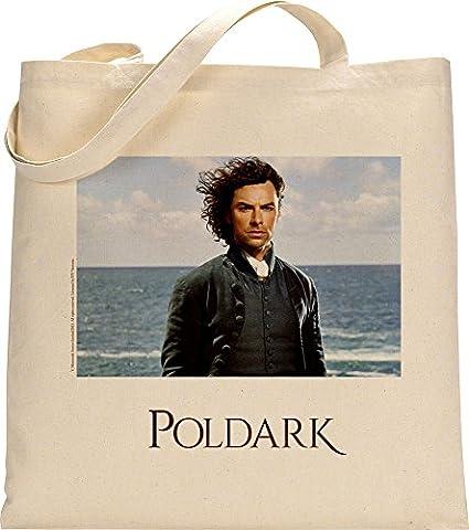 Offizielles poldark wiederverwendbar Umweltfreundlich Einkaufstasche Canvas Tasche Ross poldark (blau Hintergrund)