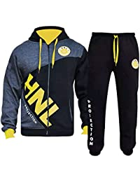 61c21e3d3 MMK Mens Tracksuit Joggers Sweatshirt Hoddie Zip up Top Jog Pants Cuffed  Trouser Bottoms Sports Pants