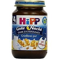 HiPP Grießbrei pur Bio, 6er Pack (6 x 190 g)