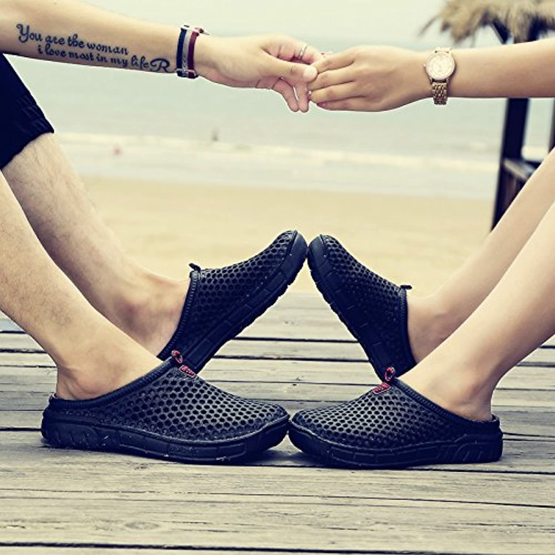xing lin Sandalias de Hombre Agujero Zapatos Hombre Verano Media Zapatillas Transpirable Hueco Río Arriba Zapatos