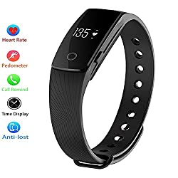 Smart Bracelet, Archeer Sleep & Heart Rate Monitor Bluetooth 4.0 Waterproof Health Wristband Smart Watches Fitness Tracker For Men & Women Compatible With Android & Ios Iphone (Black)