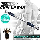 Lorenlli Door Chin Up Bar Portable Home Gym Doorway Pull-Up Bar con impugnature Confortevoli Lunghezza Regolabile Esercizio Allenamento Fitness Tool